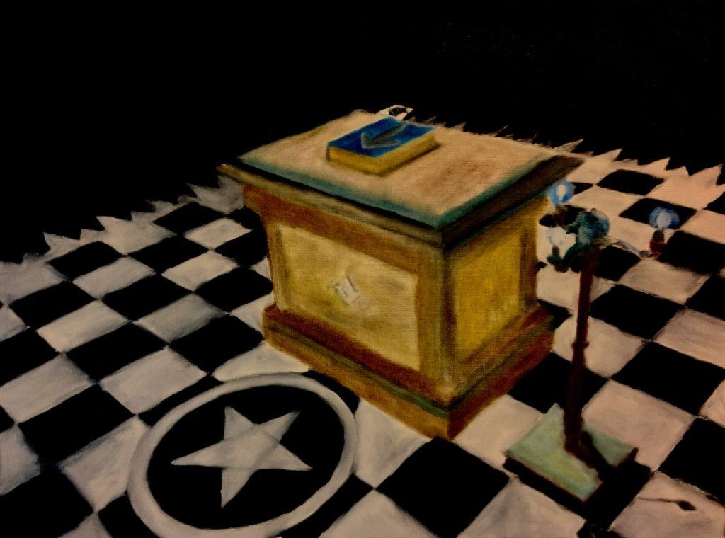 Masonic lodge room painting