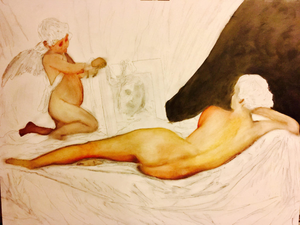 Venus in her mirror sketch peter k